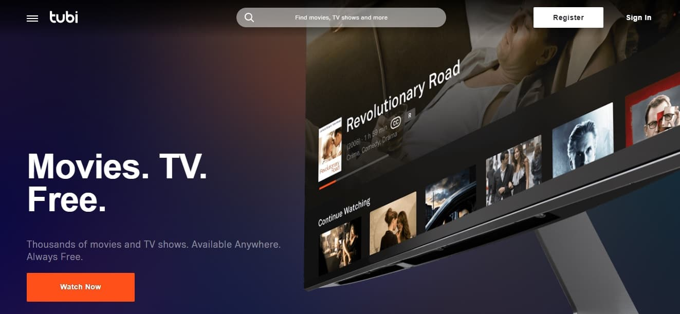 Tubi Tv is a free streaming movie site based in the united states