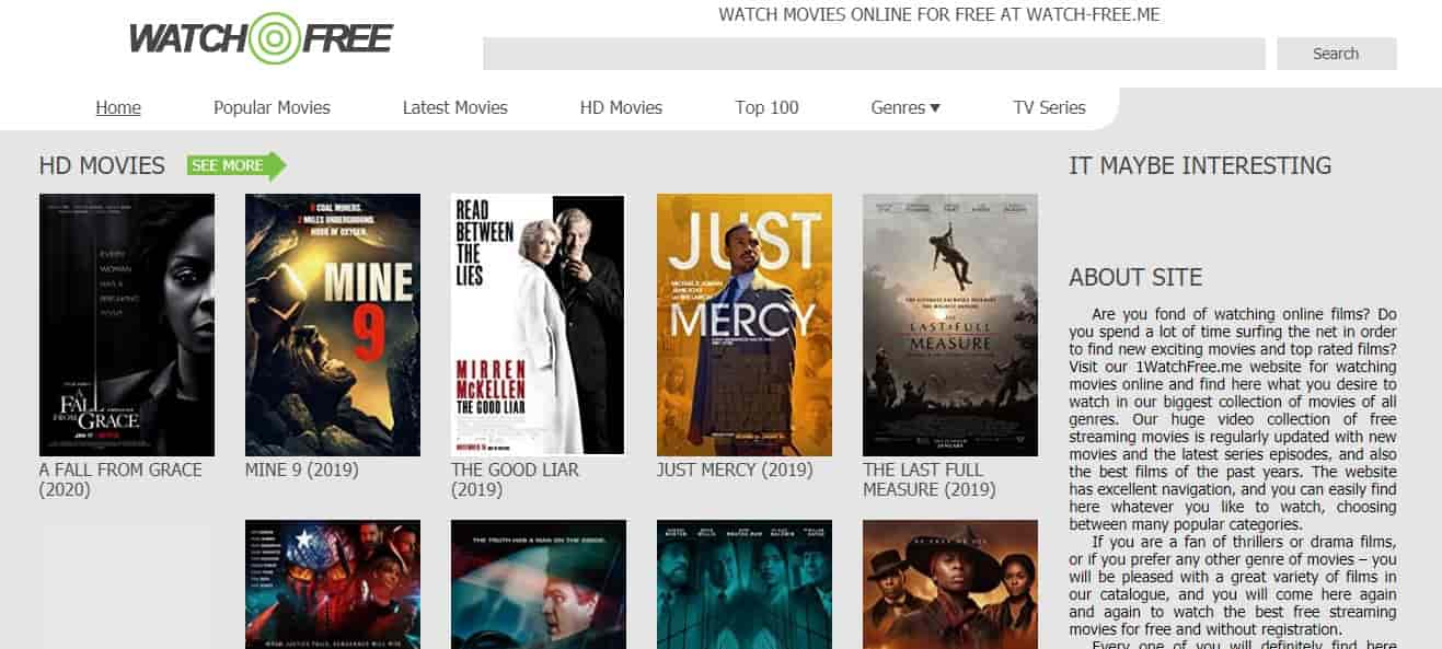 WatchFree - Free Streaming Site With No Sign Up