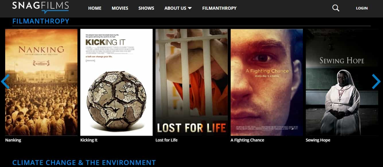 SnagFilms - Philanthropic Movies and TV Shows online