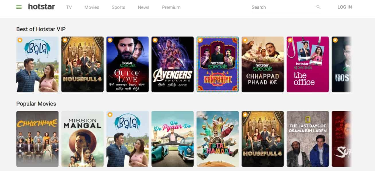 Hotstar - free movies online website