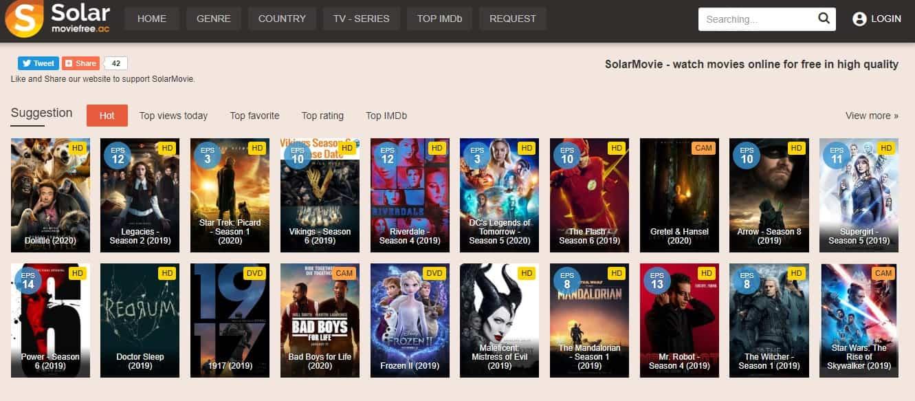 Solarmovie - Best Free Movie Streaming site