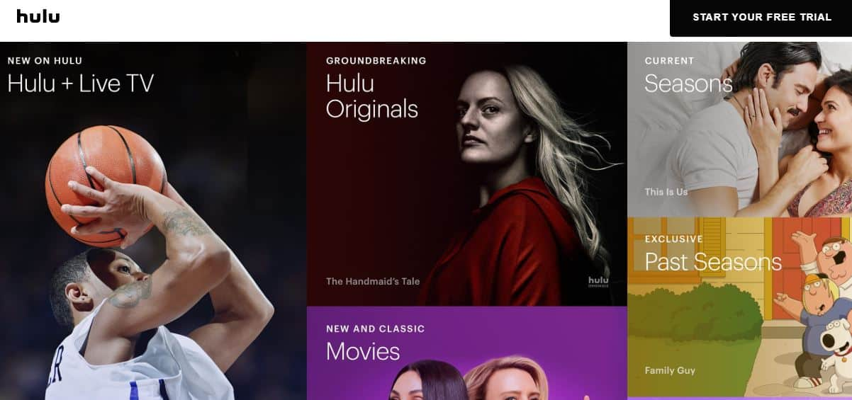 Hulu also offers users a free time to broadcast movies for free