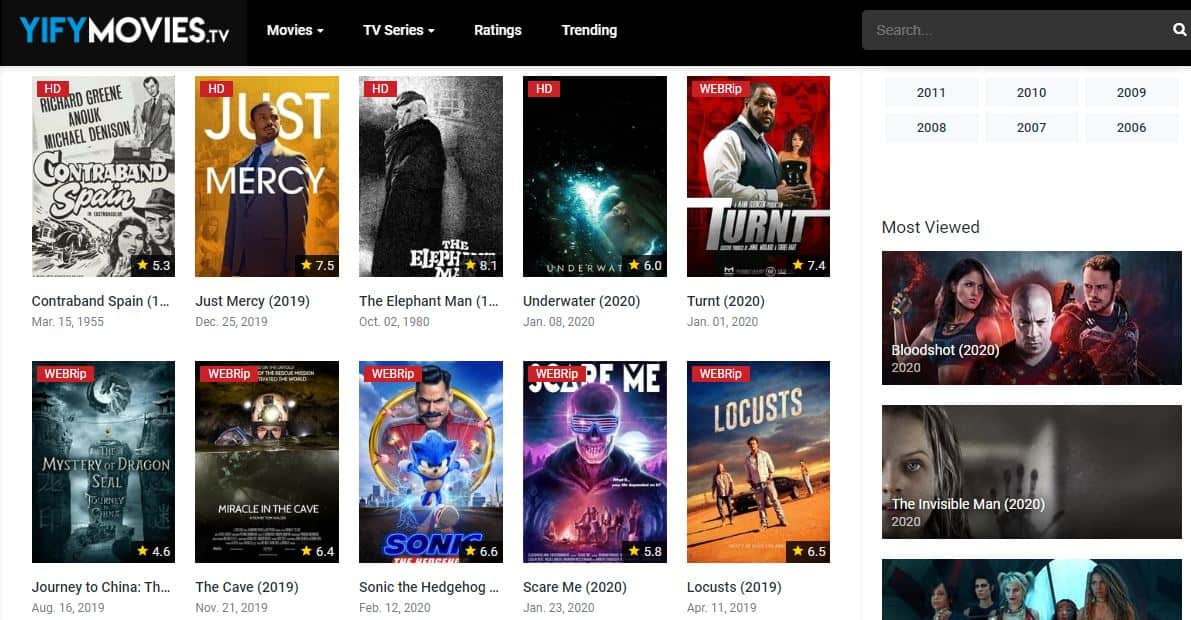 Yify movies TV is a free online movie streaming site