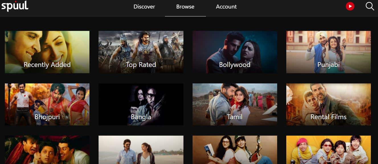 Spuul contains most Bollywood movies and shows online for free