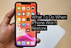 Best 5 Way to Fix My iPhone Won't Restore or Update