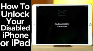 How to Restore and Fix My iPad is Disabled Error?