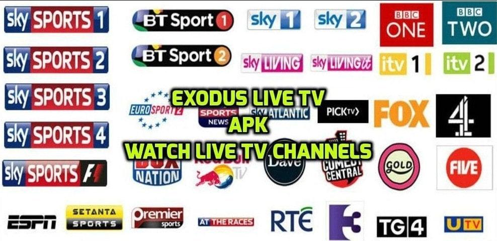 Download Exodus Live TV APK (MOD + Cracked + Unlocked Premium) Latest Version 2021