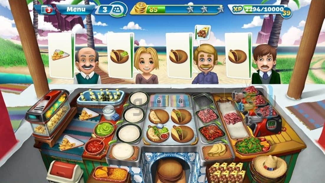 Download Cooking Fever MOD APK Unlock All Level / Hack / Unlimited Coins Latest Version 2021